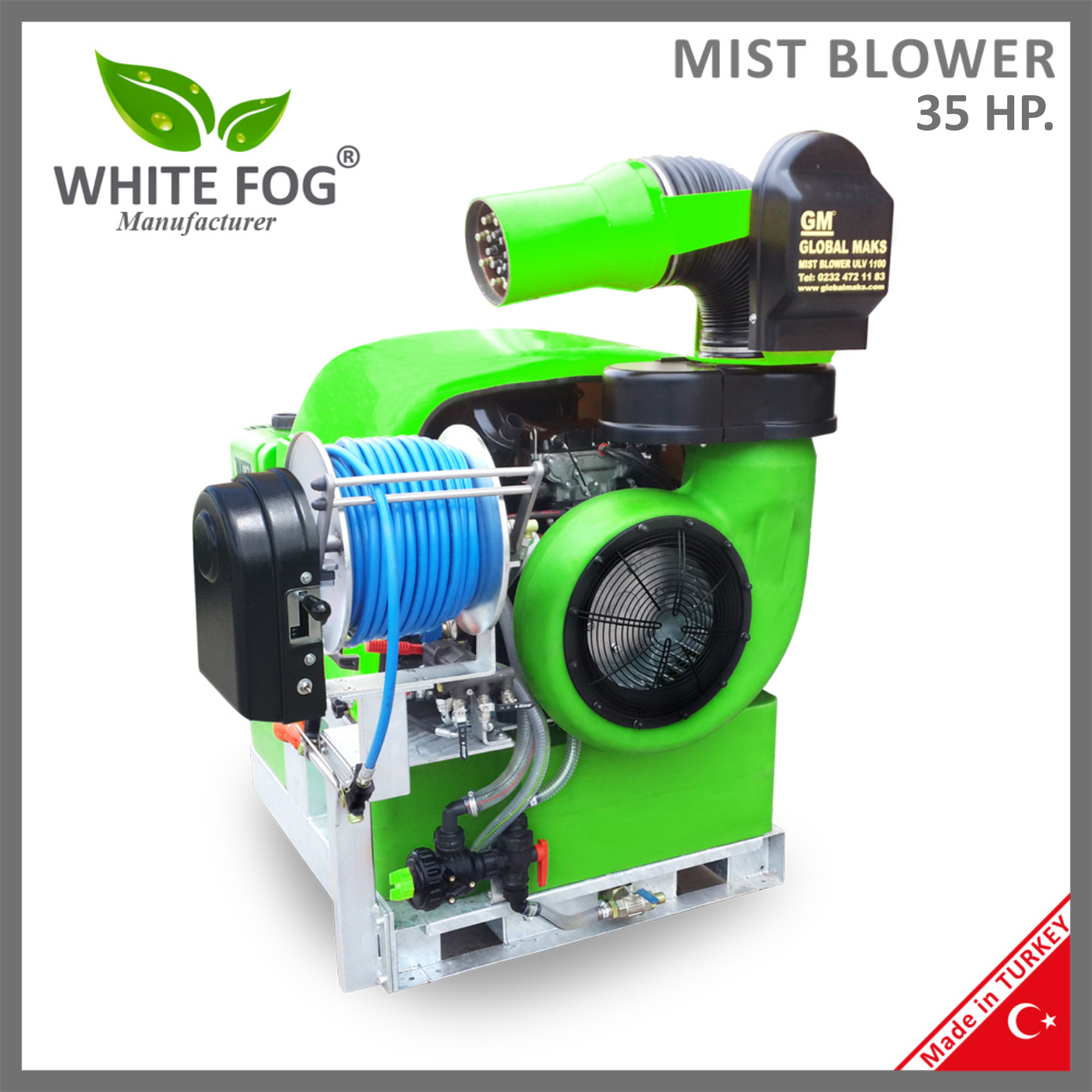 Automatic Nozzle Head locust insecticide pesticide spraying sprayer fogging fogger machine Mist Blower 35HP